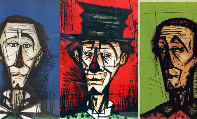 Les clowns de Bernard Buffet