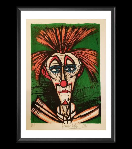 Clown fond vert