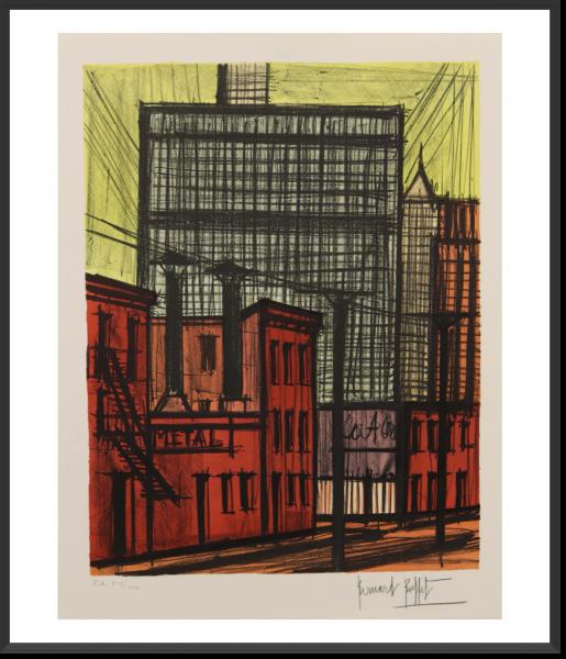 BUFFET Bernard New York 71 cm x 52 cm