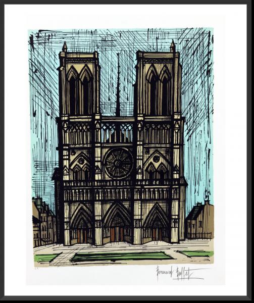 BUFFET Bernard Notre Dame 72 cm x 53 cm