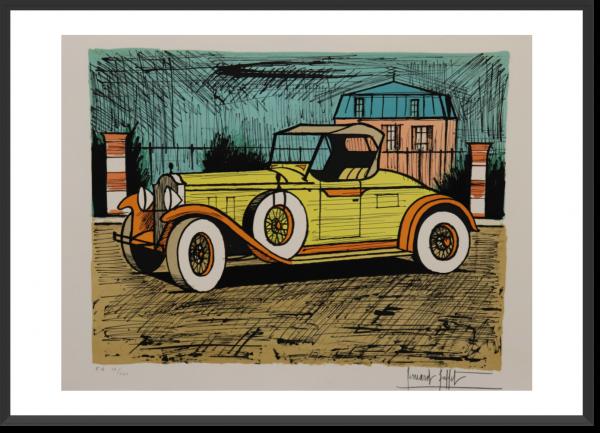 BUFFET Bernard Packard 1928 jaune 55 cm x 67 cm