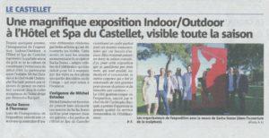 article VAR MATIN (OUEST VAR) 3 Juillet 2017 pour expo CASTELLET