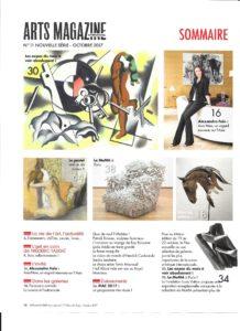 Arts Magazine oct 2017 sommaire
