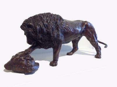 Colcombet-Le-lion-et-la-tortue-Bronze