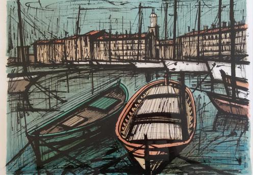 «Saint Tropez», Lithographie de Bernard Buffet