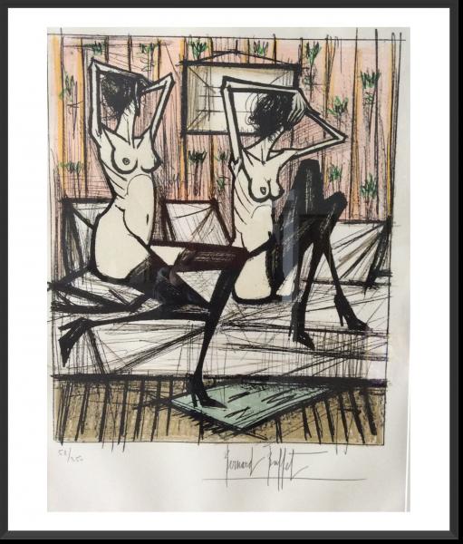BUFFET Bernard Jeux de Dames 73 x 50 cm