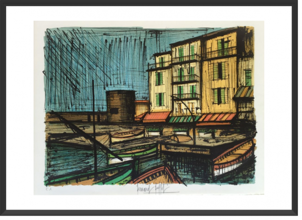 BUFFET Bernard Le port des pêcheurs 48 x 66 cm