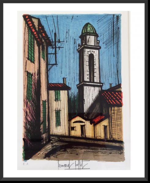 BUFFET Bernard Litho EA Le clocher de la miséricorde 52 x 37 cm