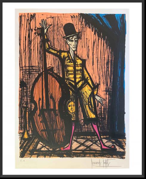 Buffet_Le clown à la contrebasse_1981