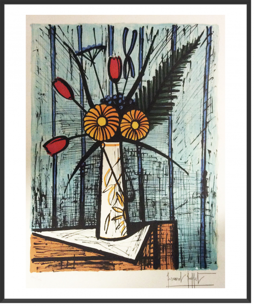 Buffet_Tulipes et soucis_1984