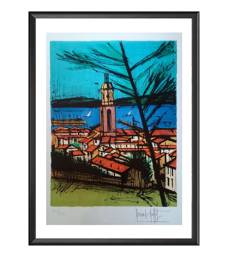 Saint-Tropez, l'église et la baie
