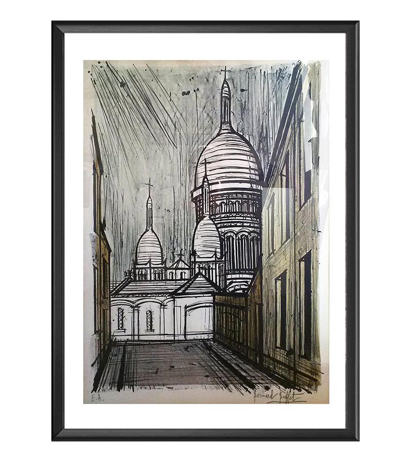 Bernard Buffet : Le Sacre Coeur, Montmartre