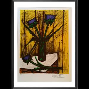 Lithographie Fleurs d'artichauts