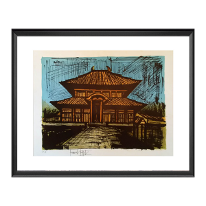 Bernard BUFFET - Estampe-Multiple - Temple Ryoan-Ji