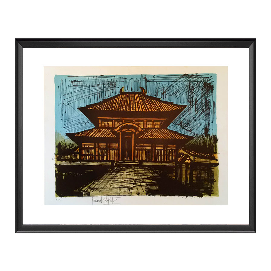Bernard BUFFET - Estampe-Multiple - Temple Ryoan-Ji