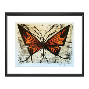 Bernard BUFFET : Le papillon orange, 1967