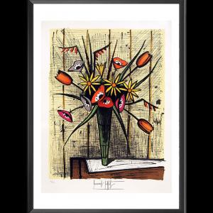 Anémones et tulipes (Bernard Buffet)