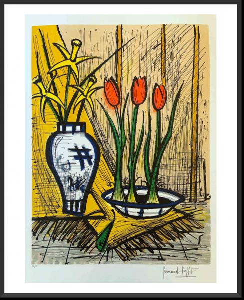 Buffet_Jonquilles et tulipes