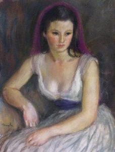Deval-Jeune-fille-a-la-ceinture-bleue-Pastel