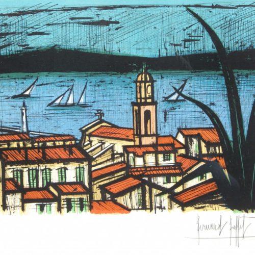 BUFFET-Bernard-Les-toits-de-Saint-Tropez-lithographie