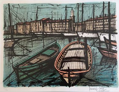 BUFFET-Bernard-St-Tropez-lithographie